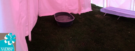 This 50 Gallon tub is used at the Indianapolis Mini Marathon for Cold Water Immersion