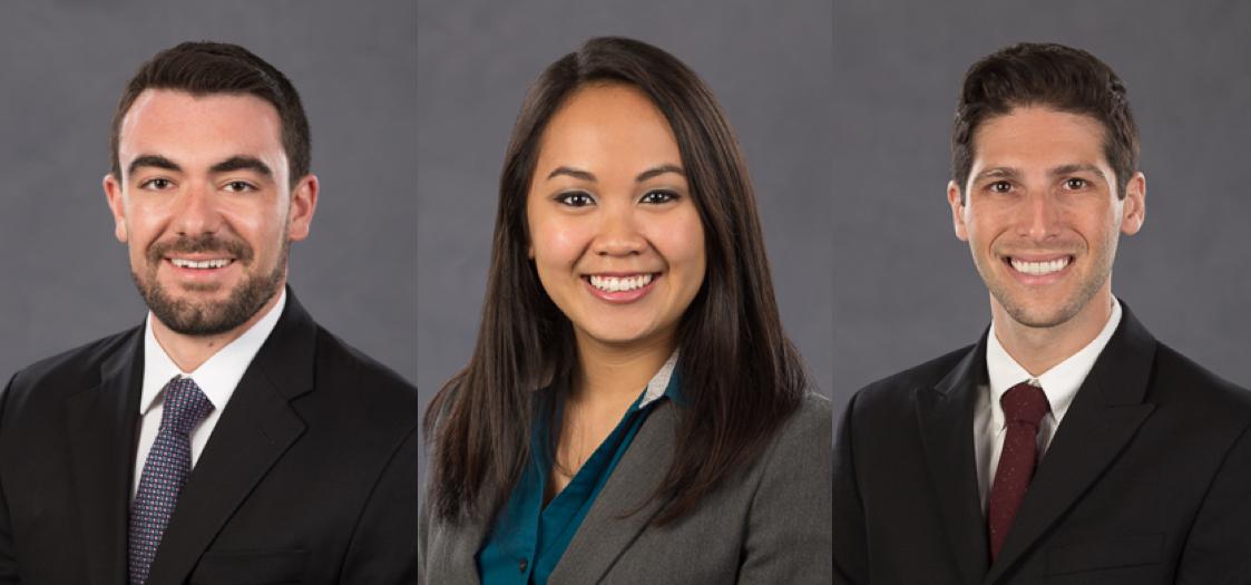 Future superstar ophthalmologists: Chris, Hong-Uyen, and Patrick.