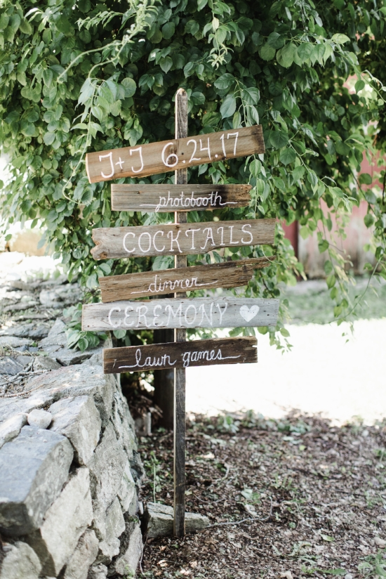 wedding day signage DIY