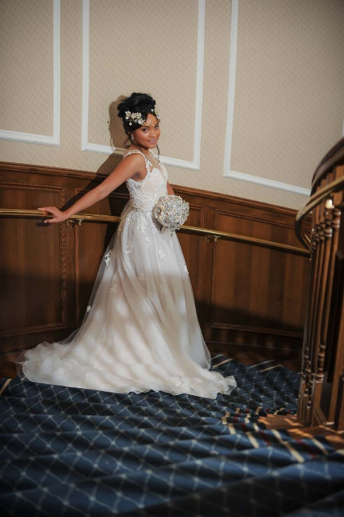 Bride on the stairwell