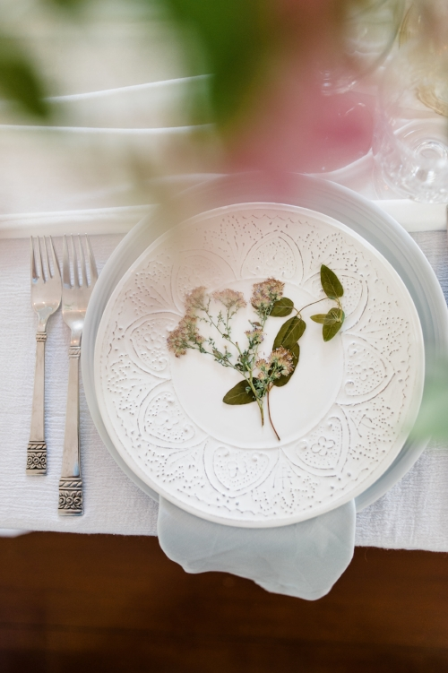 Wedding day table scape