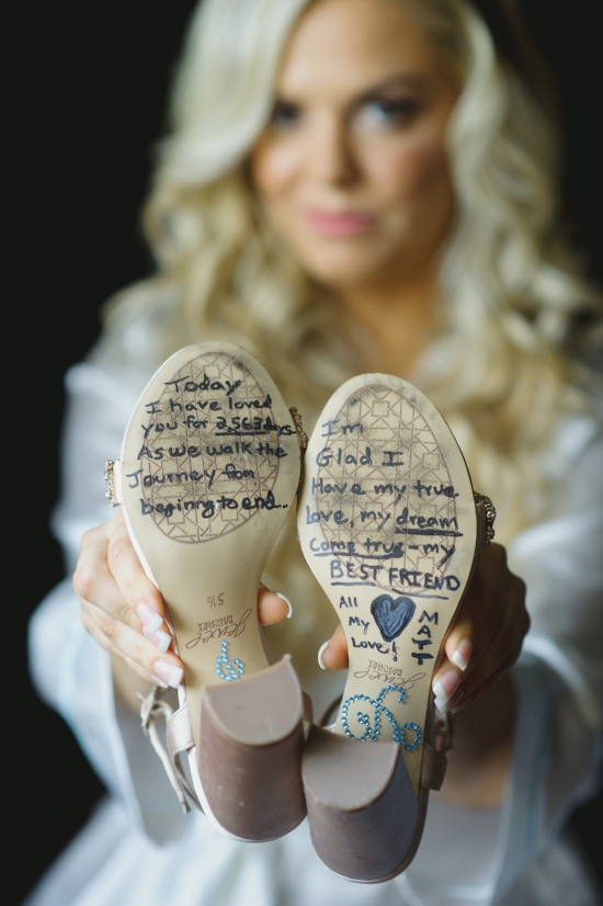 Brides Wedding Day Shoes - With a note from the groom