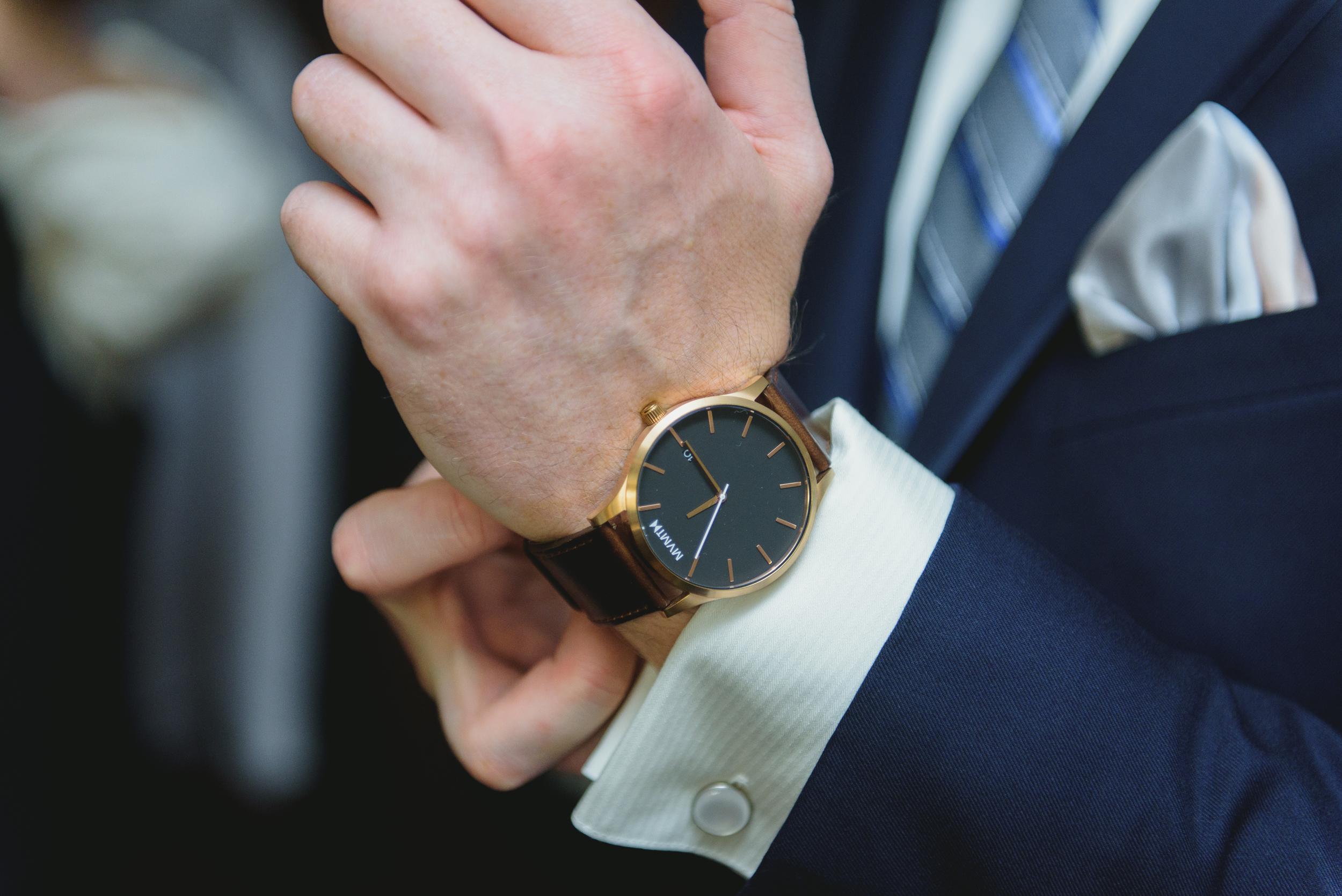 Groom's watch - pearl weddings