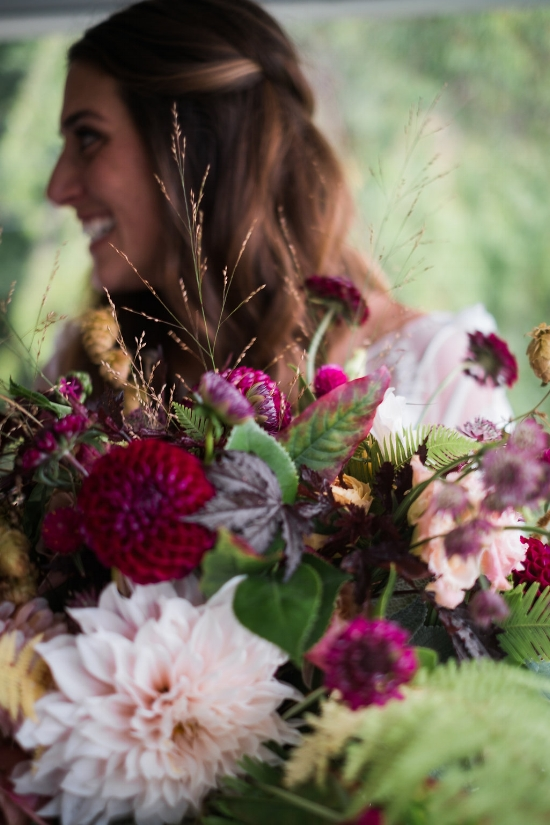 I love the organic nature of this beautiful bouquet. Planner | Pearl Weddings & Events