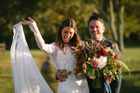 A happy bride and groom! - Pearl Weddings & Events
