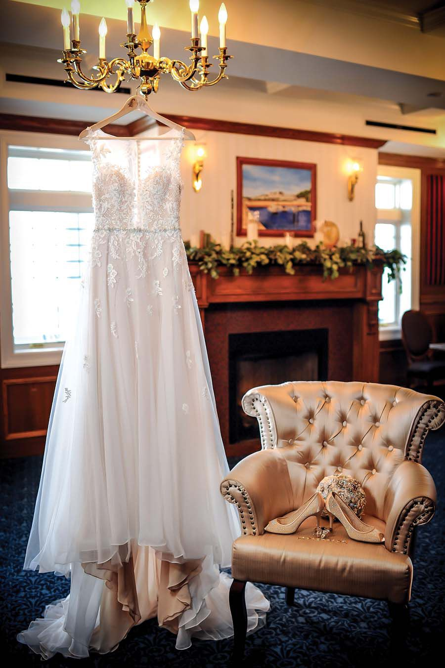 Brides Gown at Madison Beach Hotel - Pearl Weddings & Events