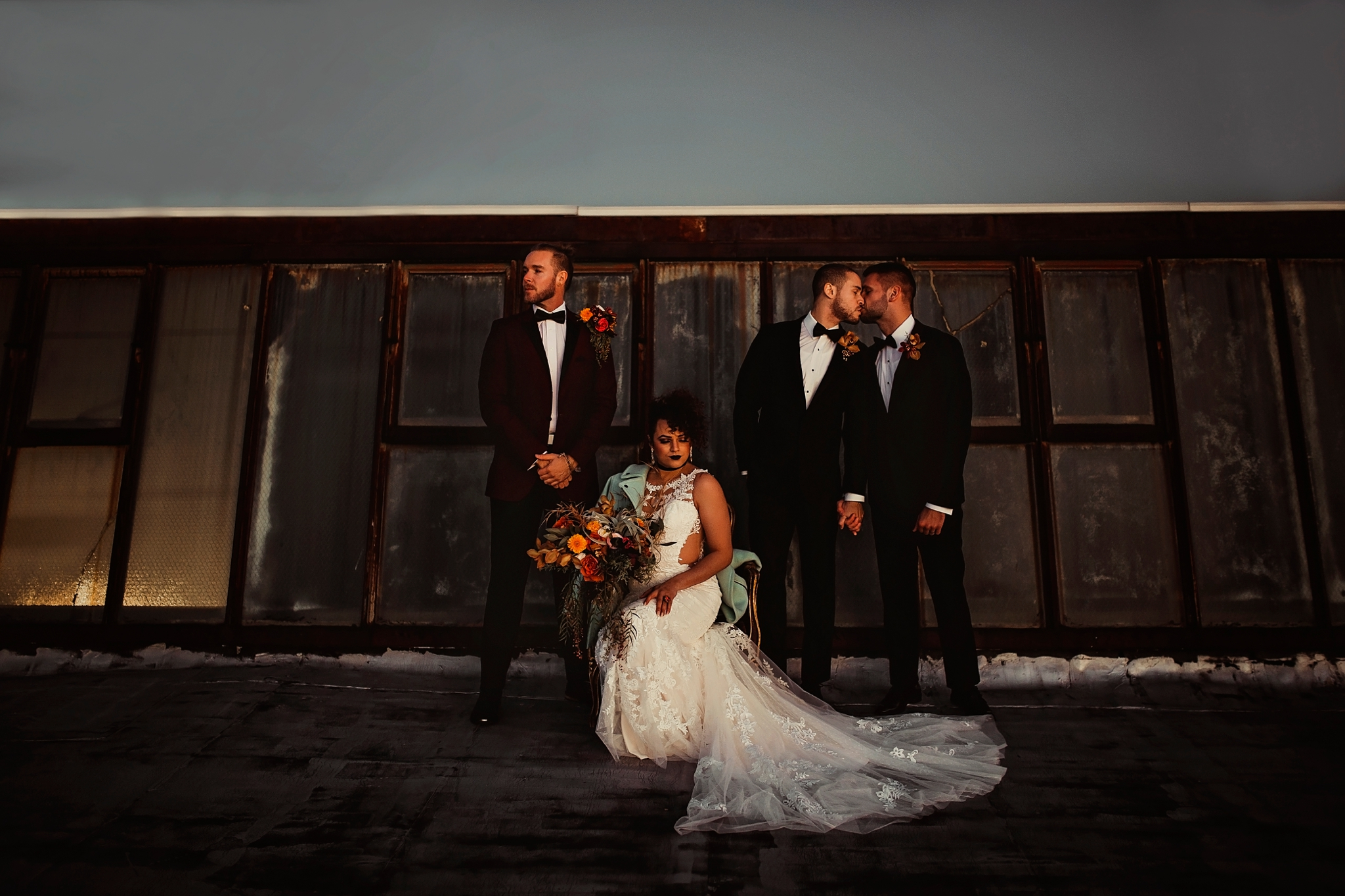 LGBTQ Industrial Weddings by Pearl Weddings & Events.