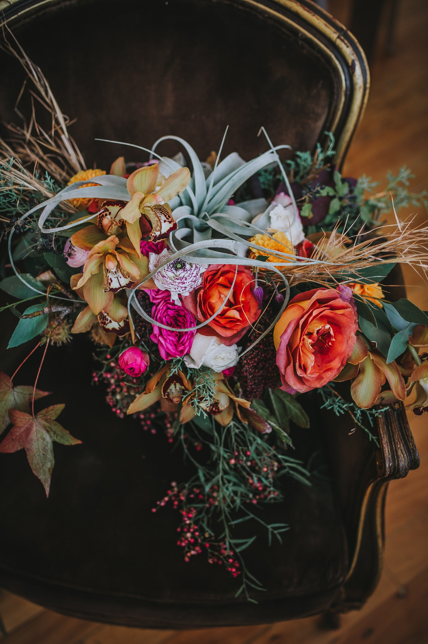 Big bouquet with bright colors and succulents! - Pearl Weddings & Events