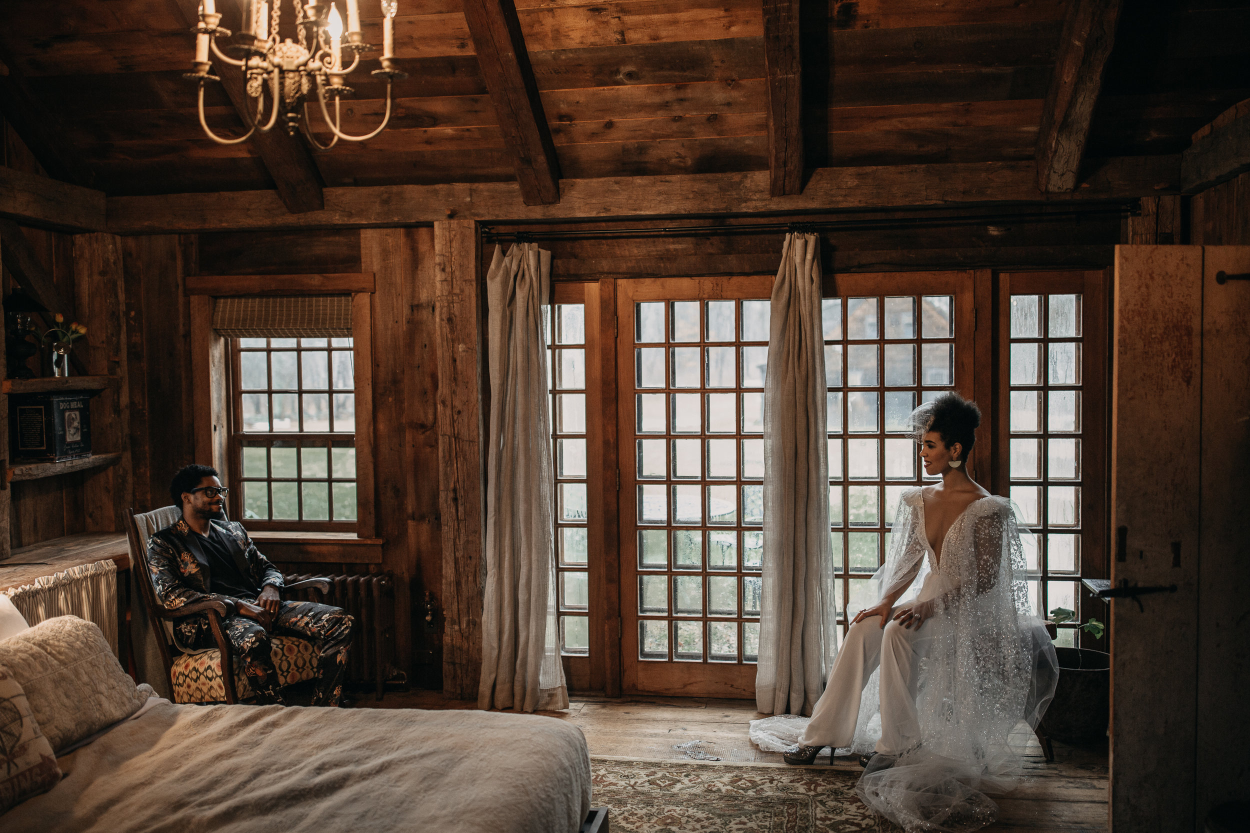B & B fashionable Elopement in January - Pearl Weddings & Events