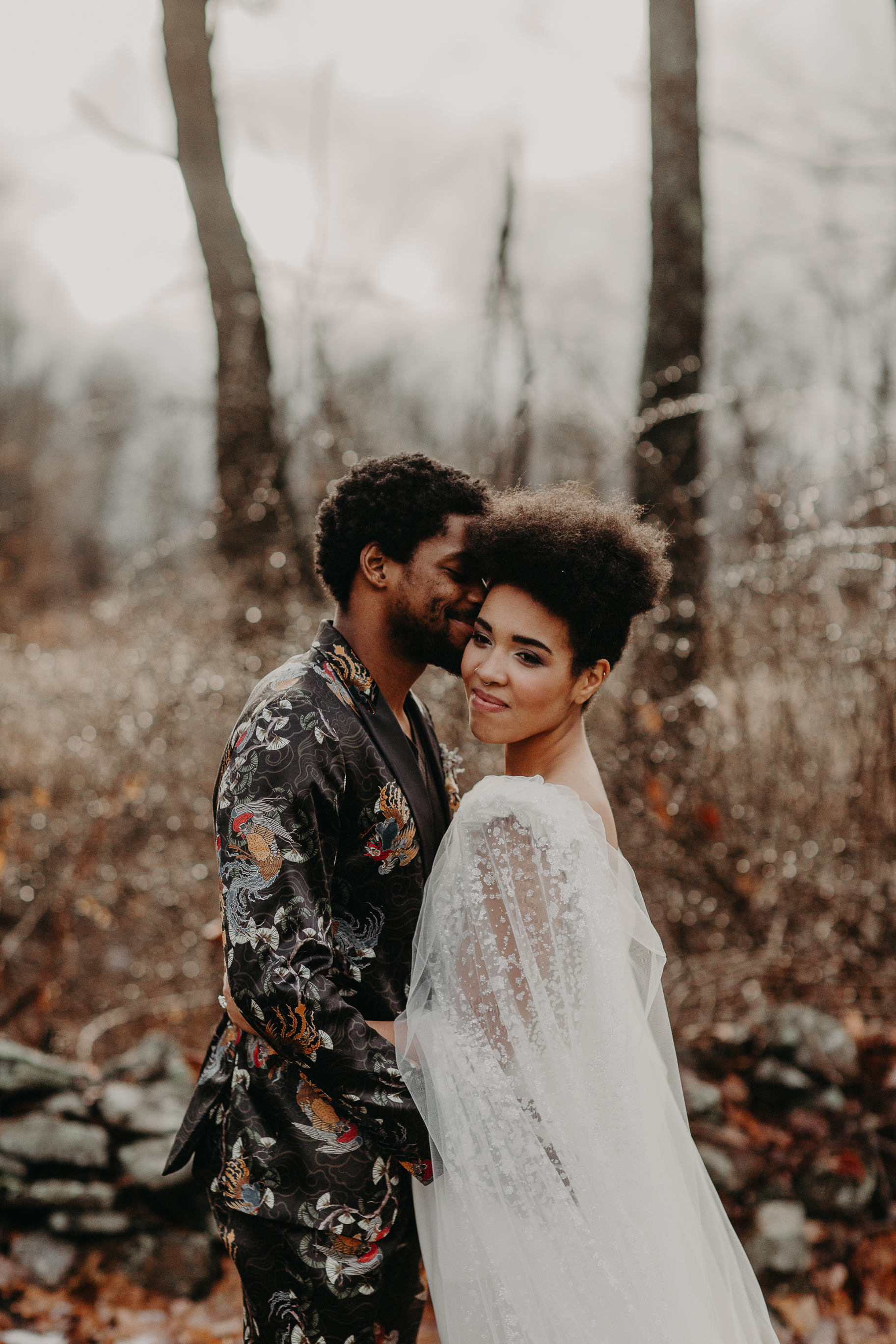 B&B winter fashionable elopement in Hudson, New York - Pearl Weddings & Events