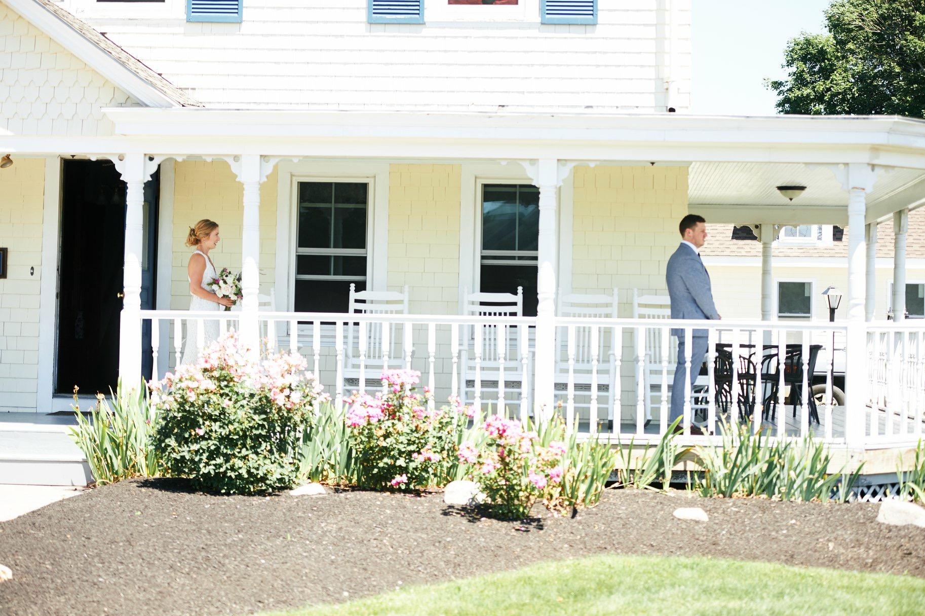 Ananda & Jason's first look in Rhode Island - Pearl Weddings & Events