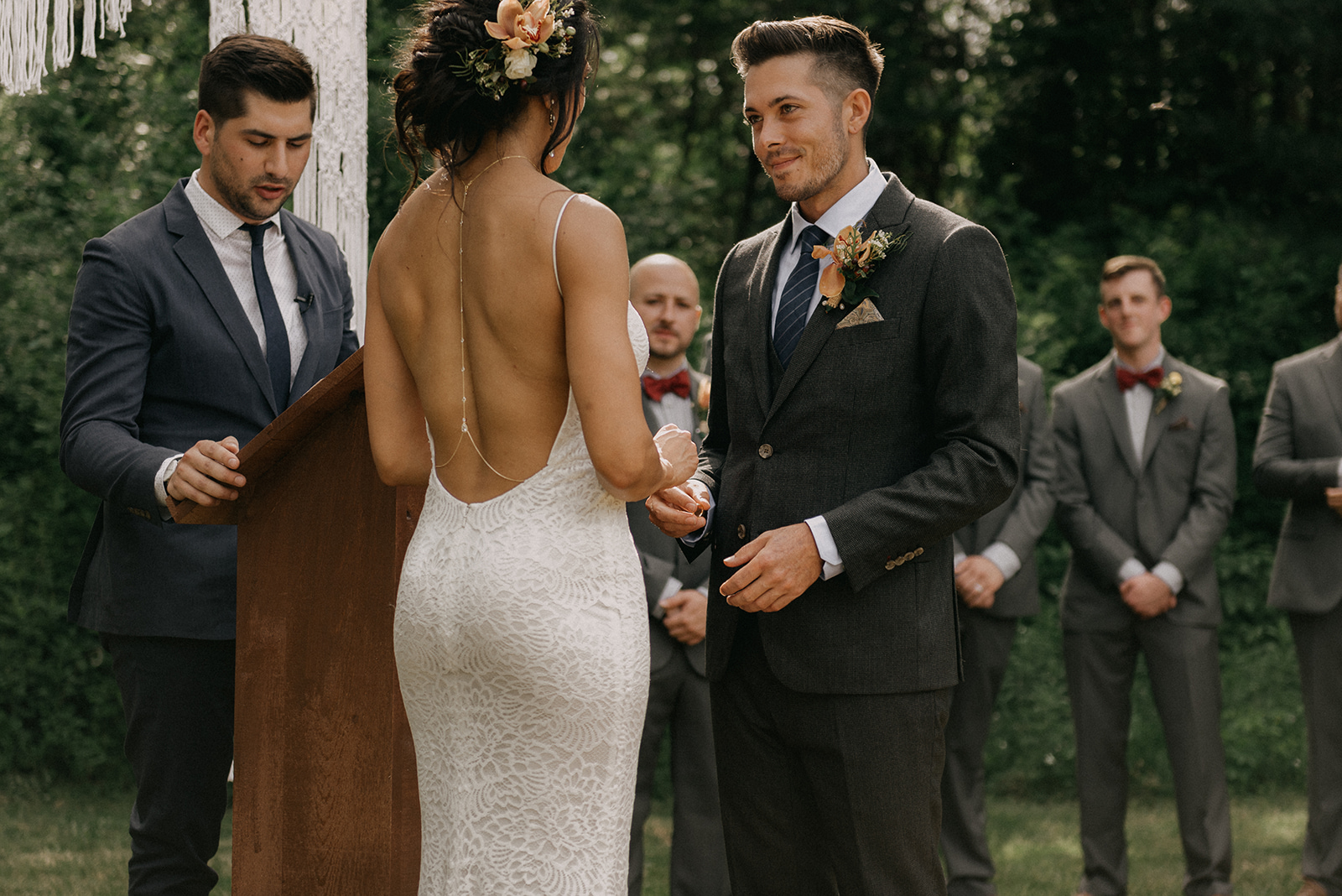 Ring exchange and wedding vows - Pearl Weddings & Events