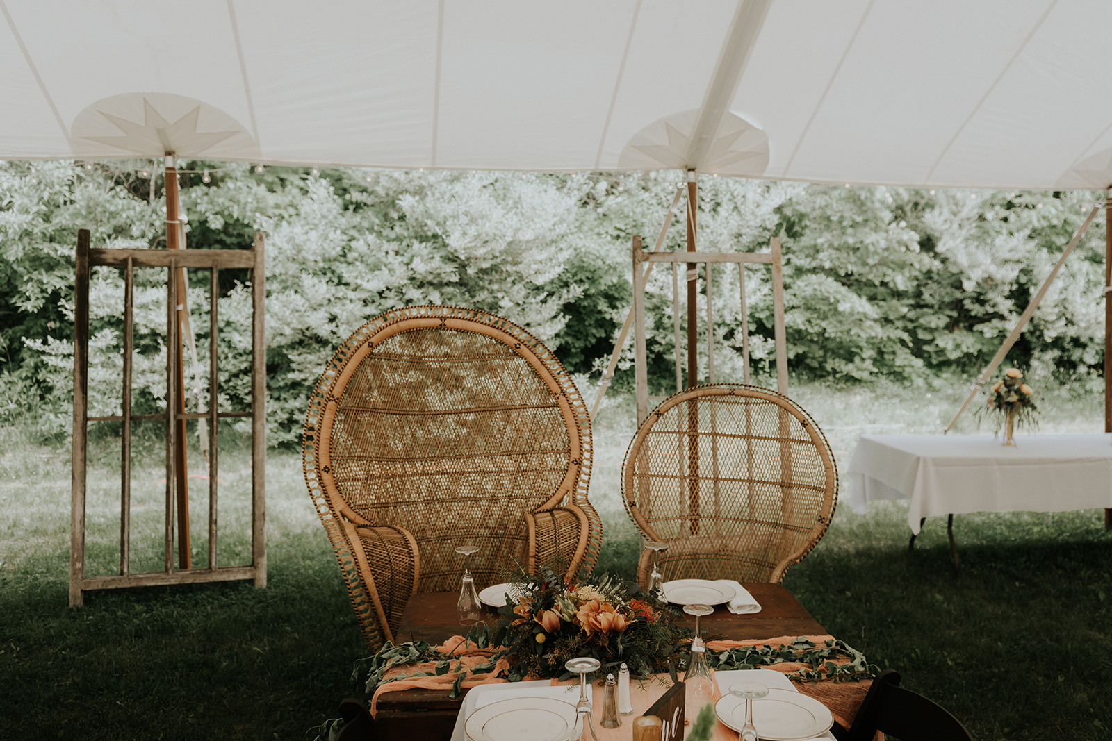 Bride and grooms seats at the table! - Pearl Weddings & Events