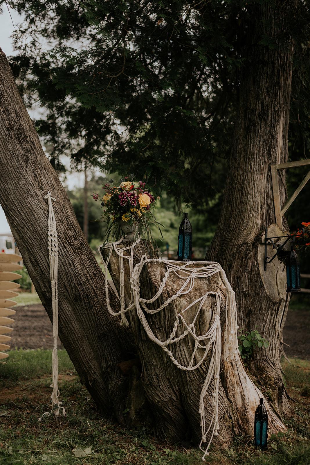Macrame wedding details - Pearl Weddings & Events