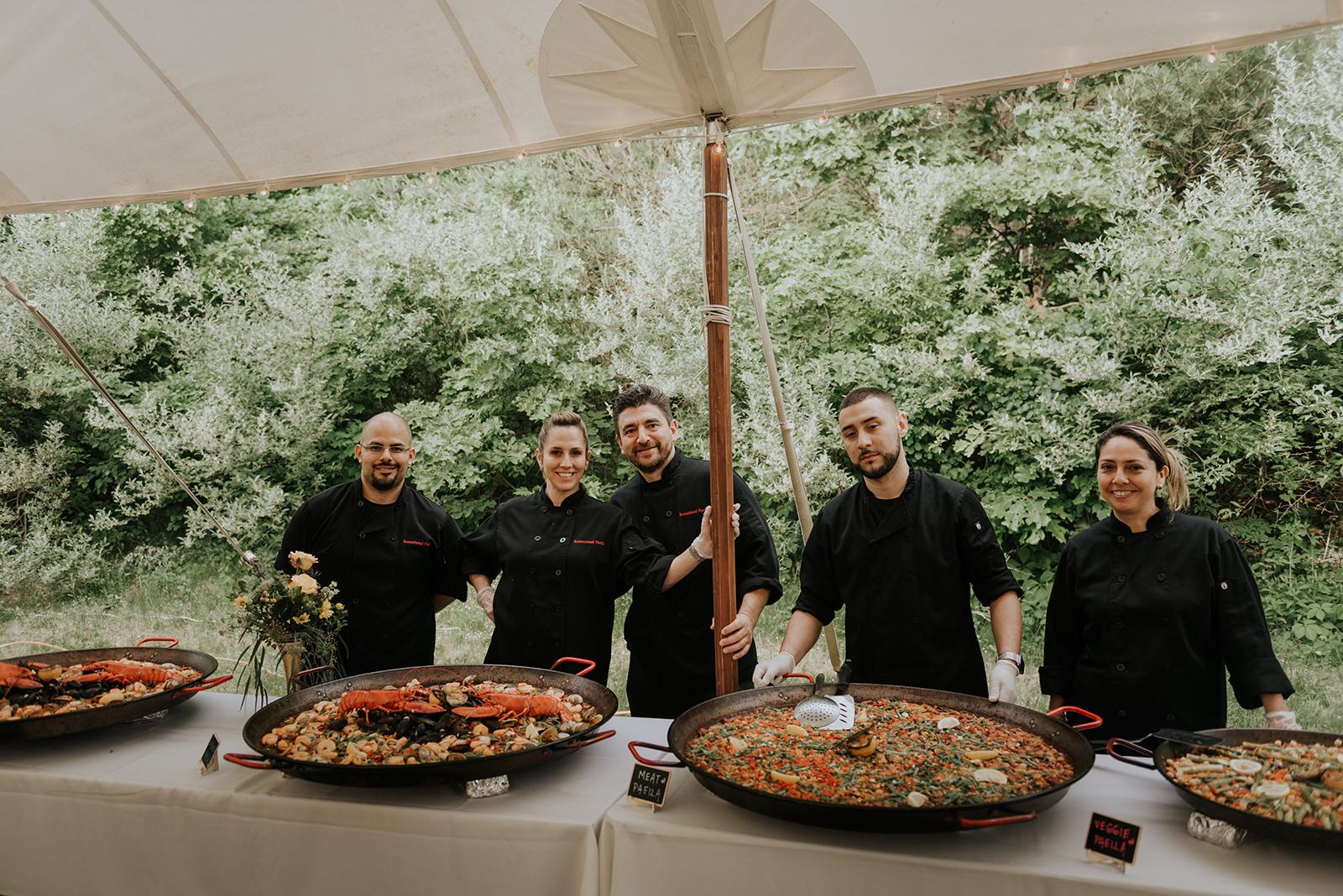 Paella for wedding reception food! - Pearl Weddings & Events