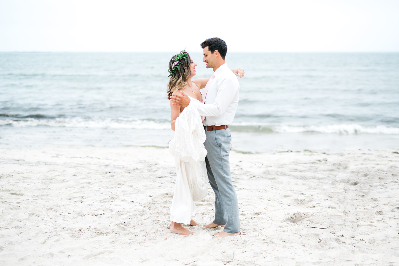 First look by the ocean - Pearl Weddings & Events