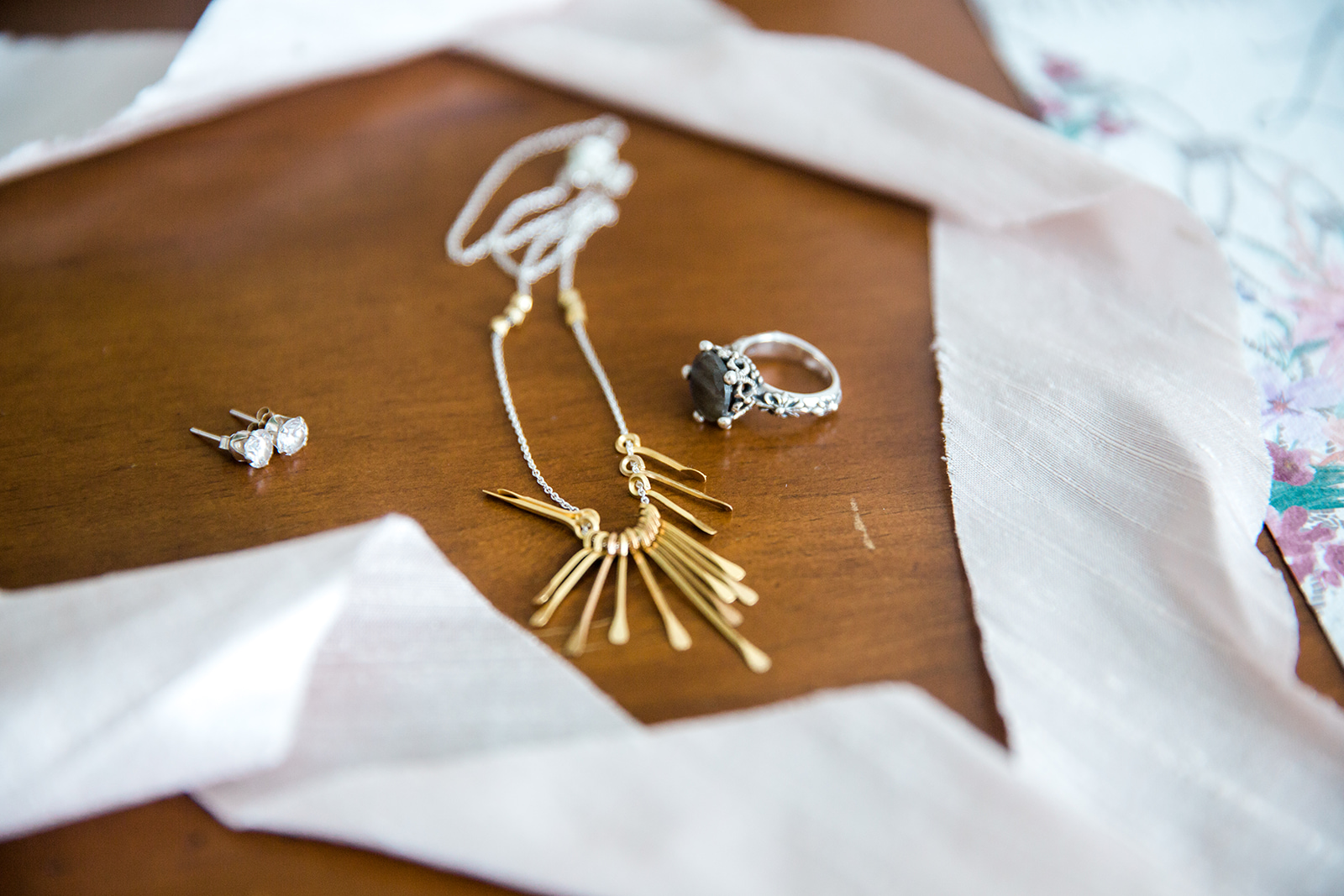 boho bridal jewelry - Pearl Weddings & Events