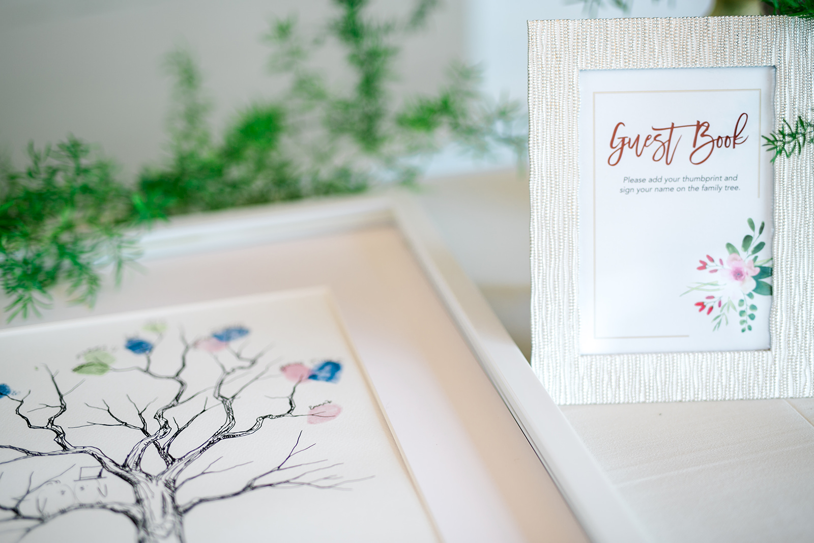 Finger pressed, family tree guest book - Pearl Weddings & Events
