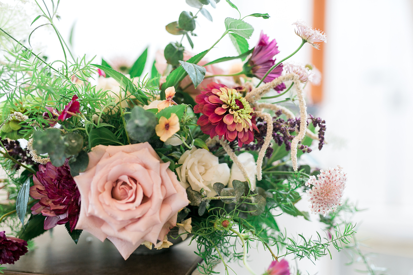 floral arrangements on the bar in Mystic Connecticut- Pearl Weddings & Events