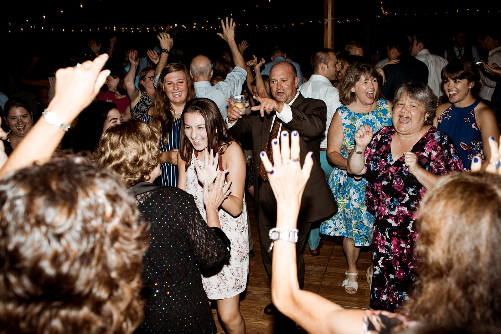 Late night wedding dance party with Silver Arrow Band - Pearl Weddings & Events
