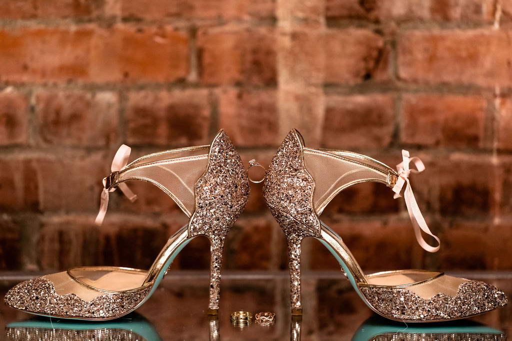 The perfect pair of sparkly shoes for your new years eve wedding - Pearl Weddings & Events