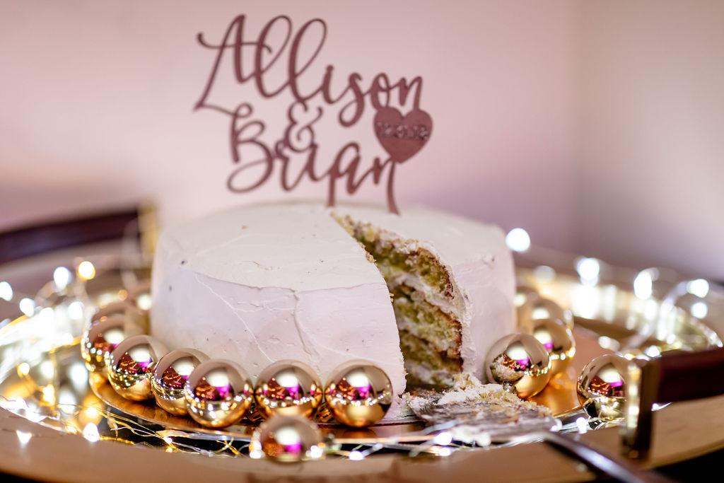 Pistachio wedding cake - Pearl Weddings & Events