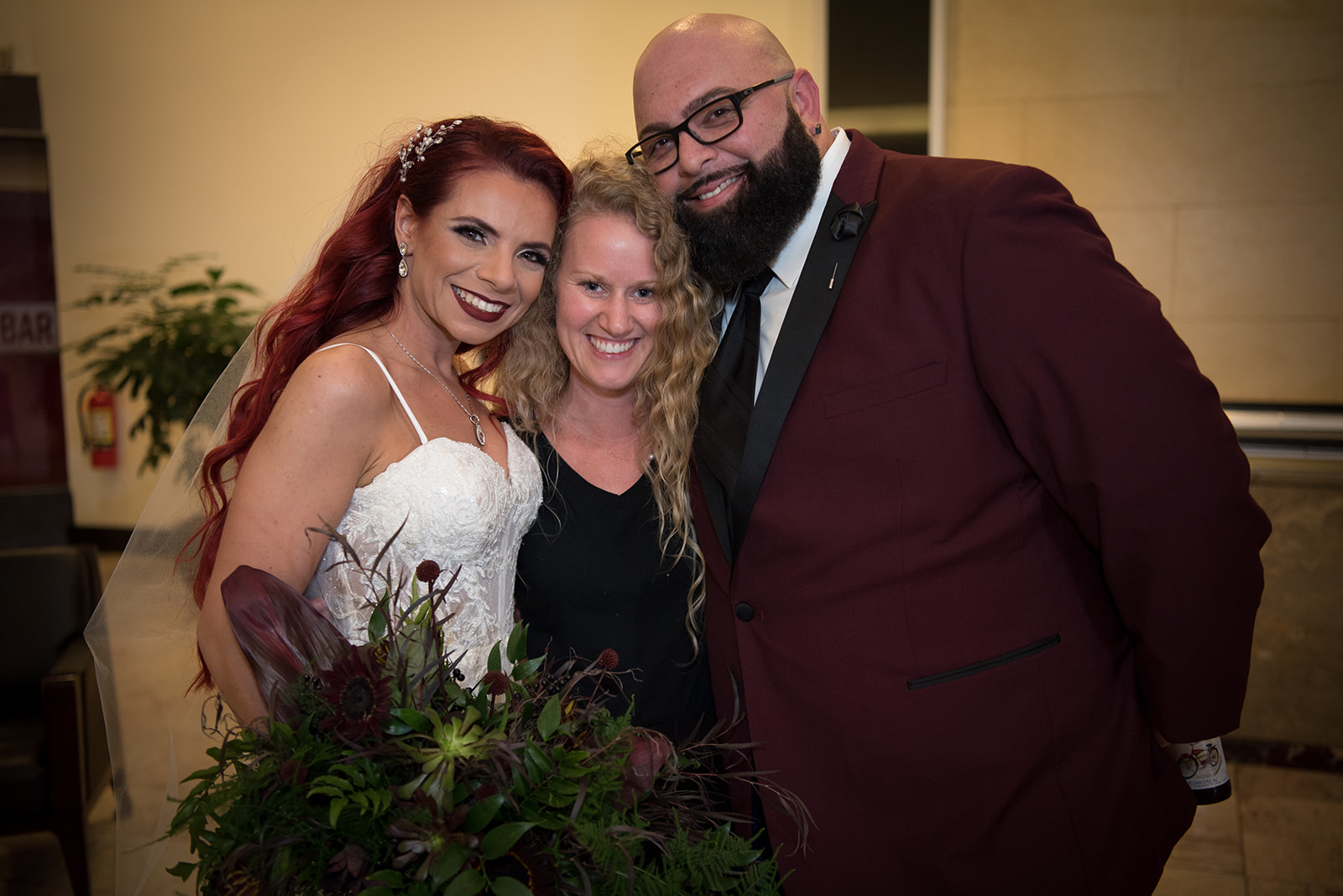 the couple with their wedding planner! - Pearl Weddings & Events