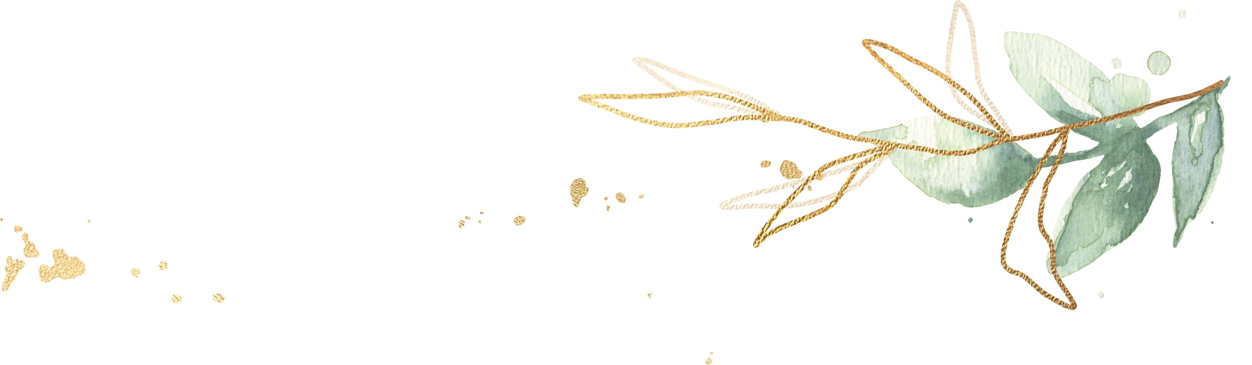 gold leaf element - Pearl Weddings & Events