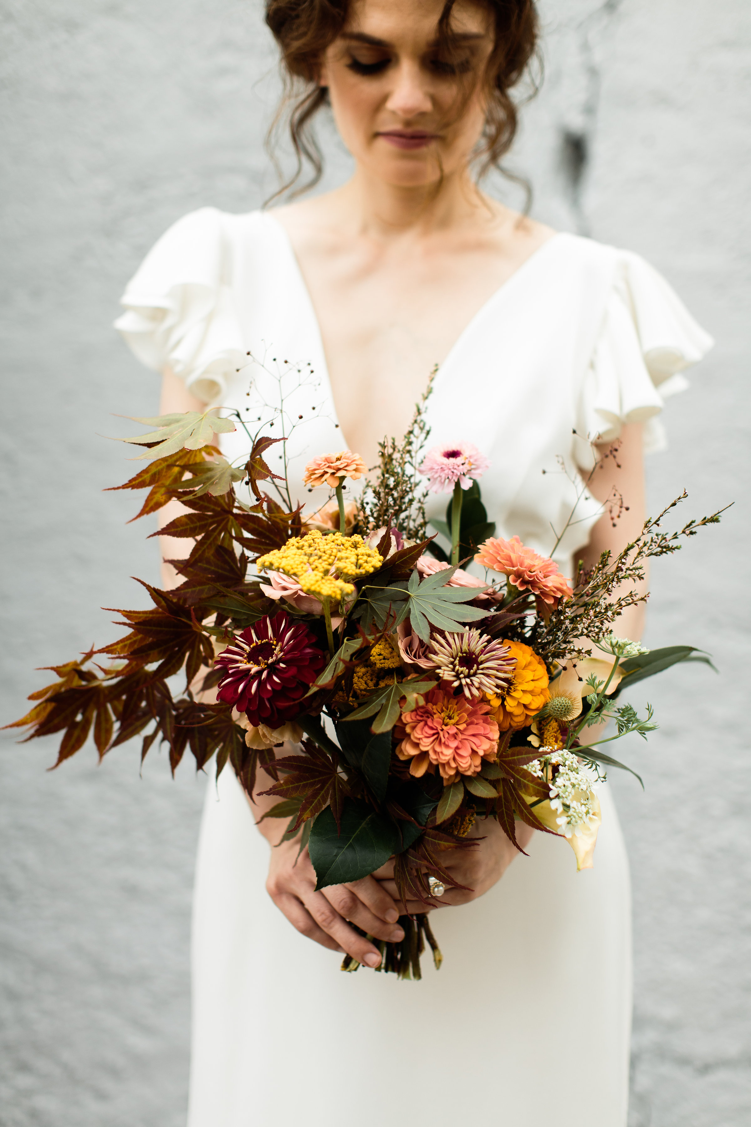 Beautiful fall floral bouquet by Jakkelyn Iris - Pearl Weddings & Events