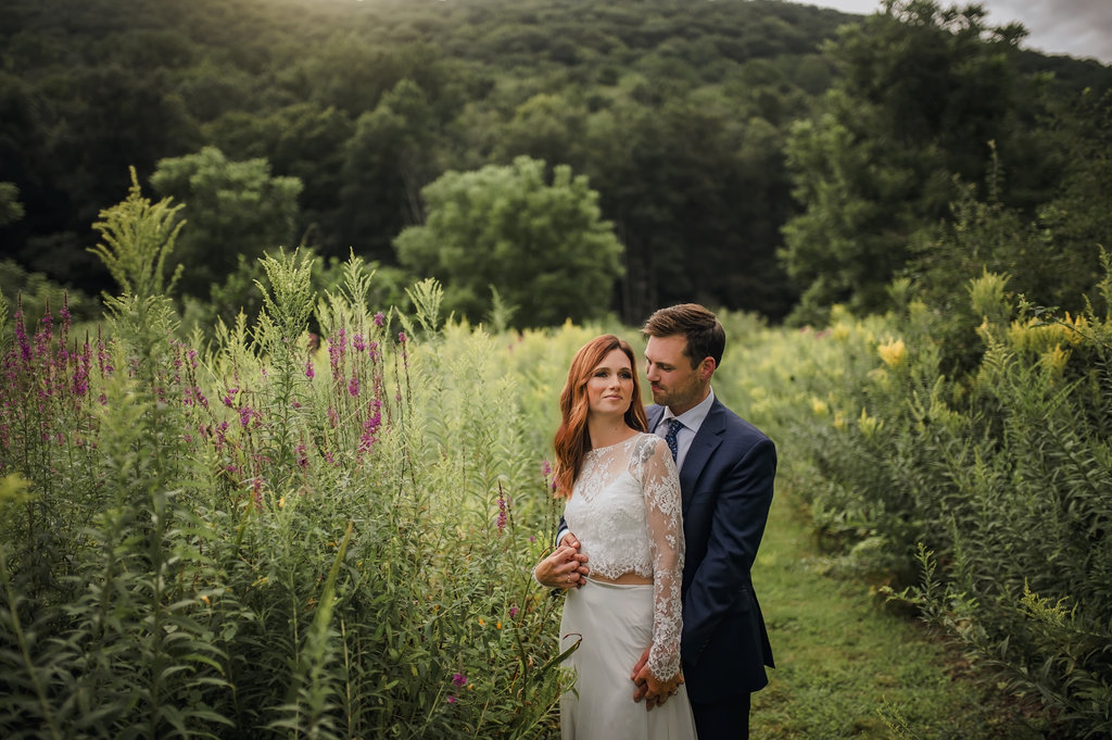 First look in a field at the Nature Preserve - Pearl Weddings & Events