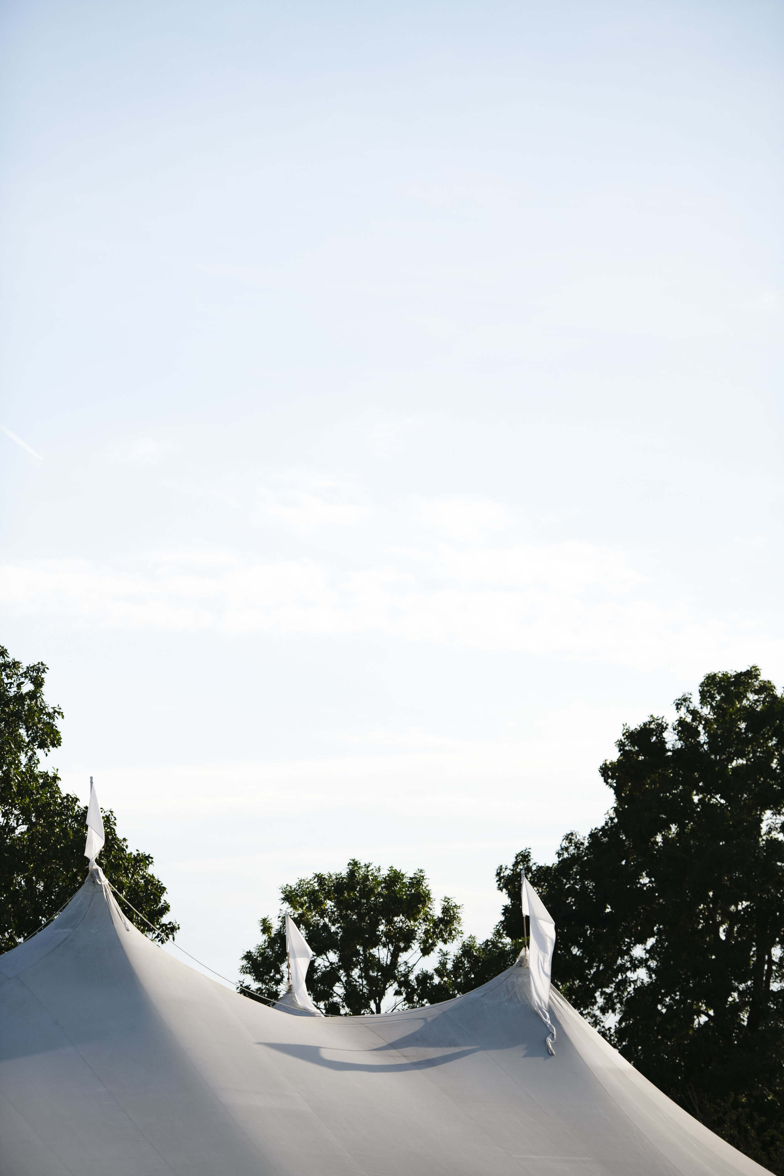 Sperry tent for an outdoor wedding at Jonathan Edward Winery in Connecticut - Pearl Weddings & Events