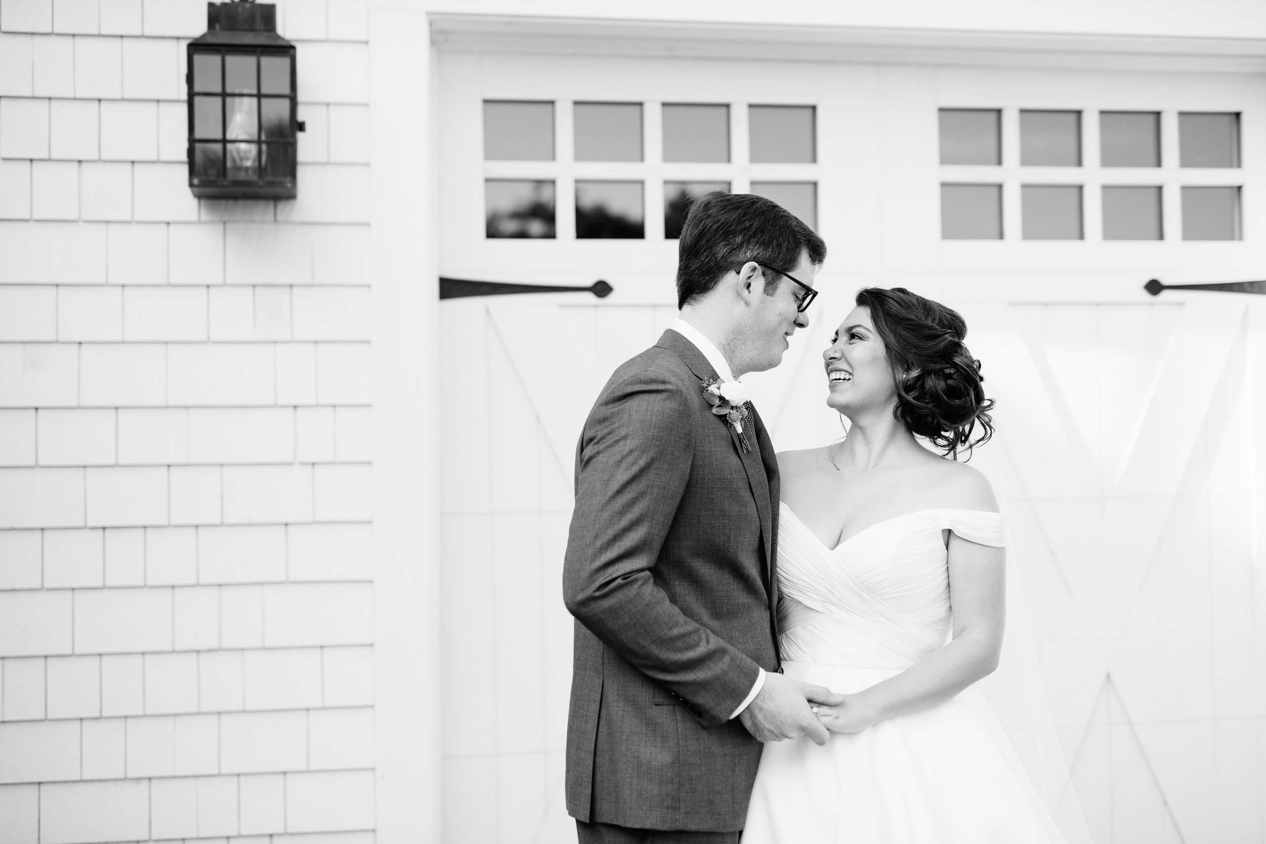 Bride and grooms first look in the vineyard at Jonathan Edwards Winery in Stonington, CT - Pearl Weddings & Events