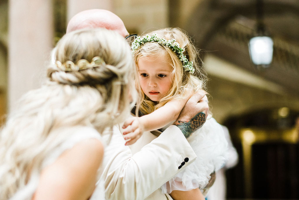 Flower girl and daughter at Tyler & Melanie's wedding - Pearl Weddings & Events