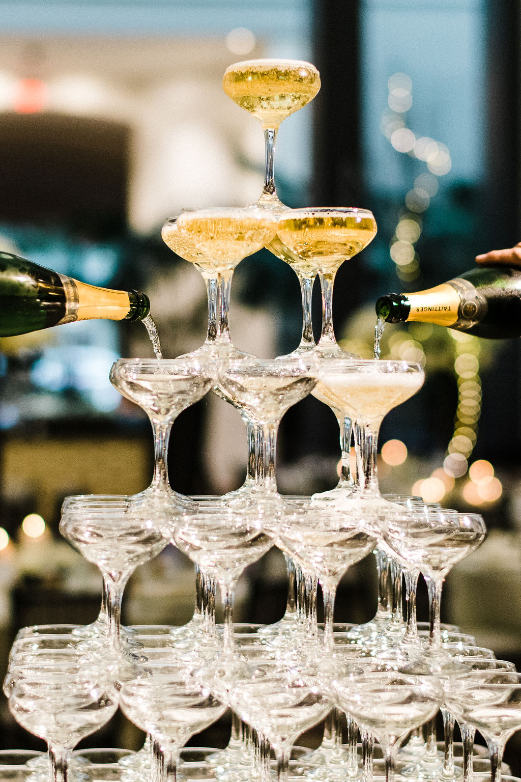Champagne tour by Porrona & Pina/ The Goodwin Hotel at Melanie & Tyler Anderson's Great Gatsby Themed wedding - Pearl Weddings & Events