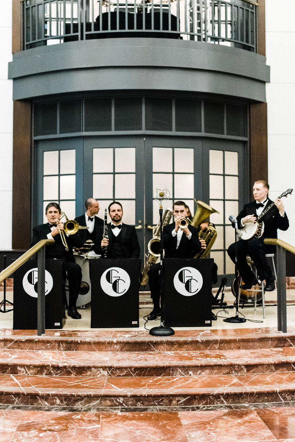 Glenn Crytzer band playing 40's music for a great gatsby themed wedding in Hartford, CT - Pearl Weddings & Event
