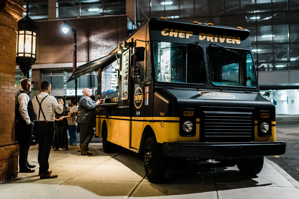 Late night food truck visit from Craftbird at Tyler Anderson and Melanie Stepka's Wedding!