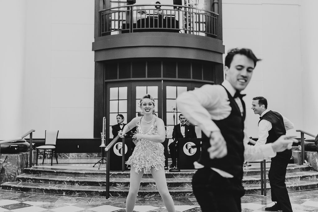 Gatsby Entertainment from NYC performing for Tyler and Melanie's Wedding at The Goodwin Hotel - Pearl Weddings & Events