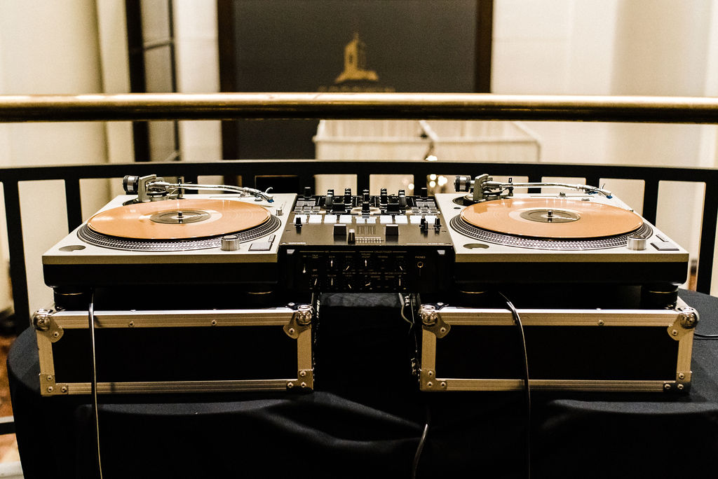 DJ Connie Carmona's set up at The Goodwin Hotel - Pearl Weddings & Events