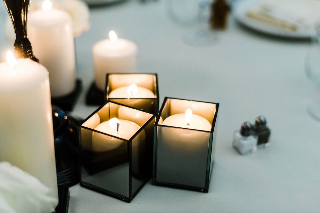 Black table details at the Goodwin Hotel in Hartford, CT - Pearl Weddings & Events