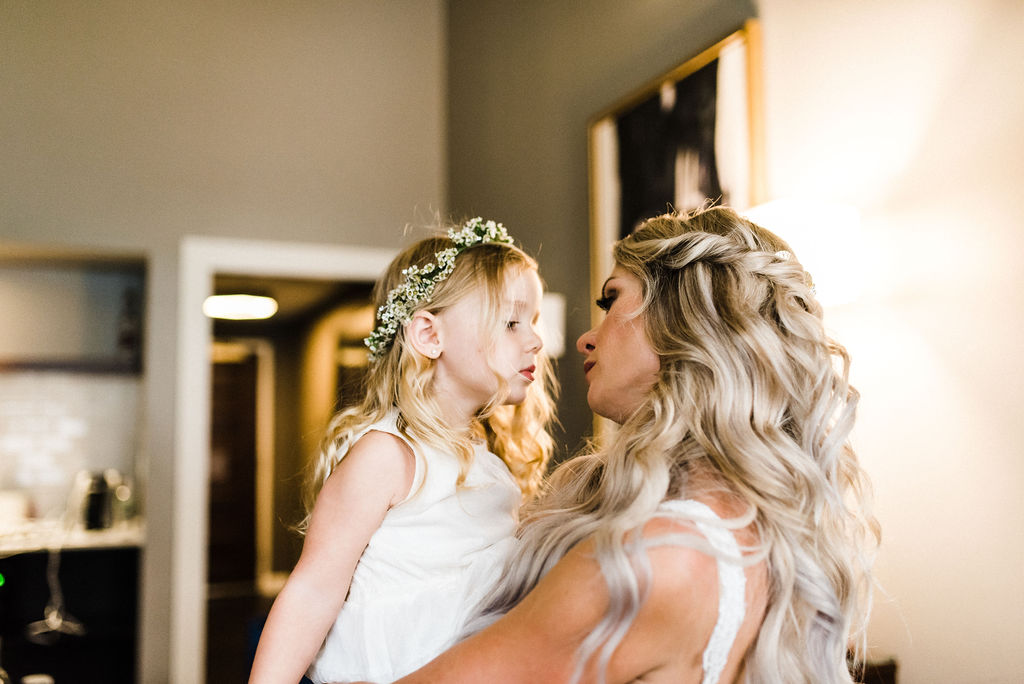 Mother and daughter on her wedding day - Pearl Weddings & Events