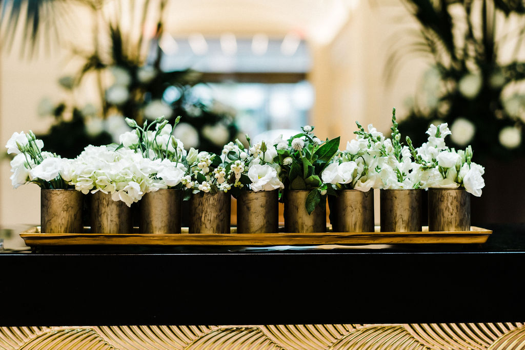 Florals designed by Ruth L. at The Goodwin Hotel in Hartford, CT - Pearl Weddings & Events