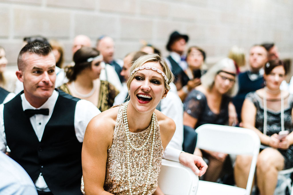 Guest outfits at a Great Gatsby themed Wedding - Pearl Weddings & Events