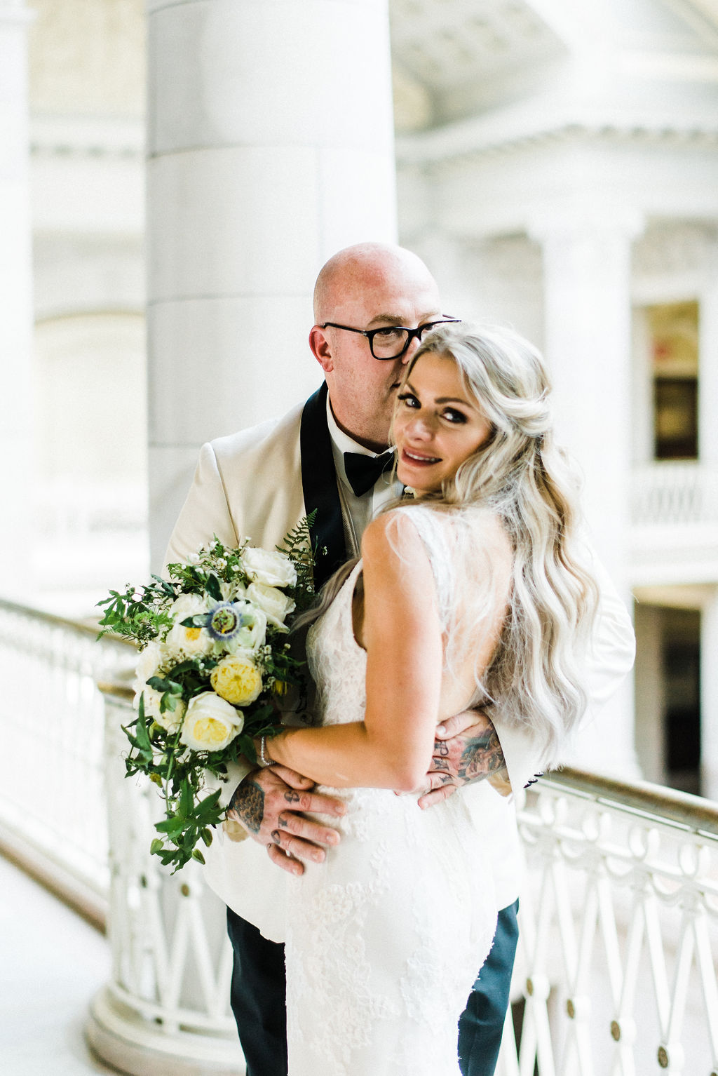 Melanie and Tyler Anderson Married at The Hartford City Hall - Pearl Weddings & Events
