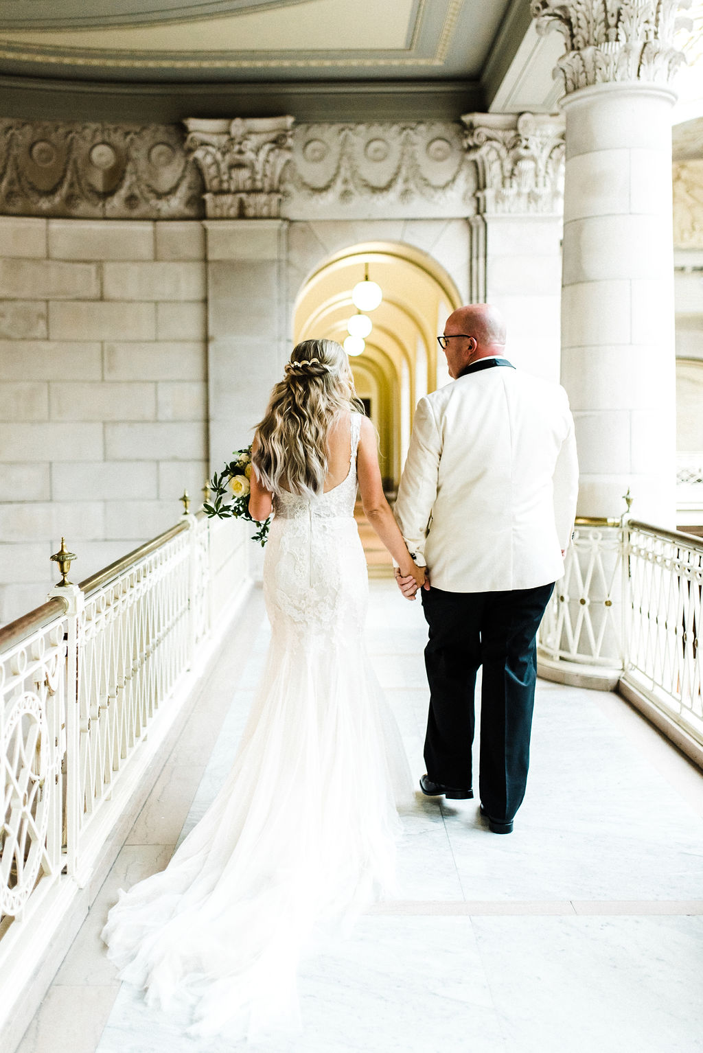 Melanie & Tyler Anderson Married at The Hartford City Hall - Pearl Weddings & Events