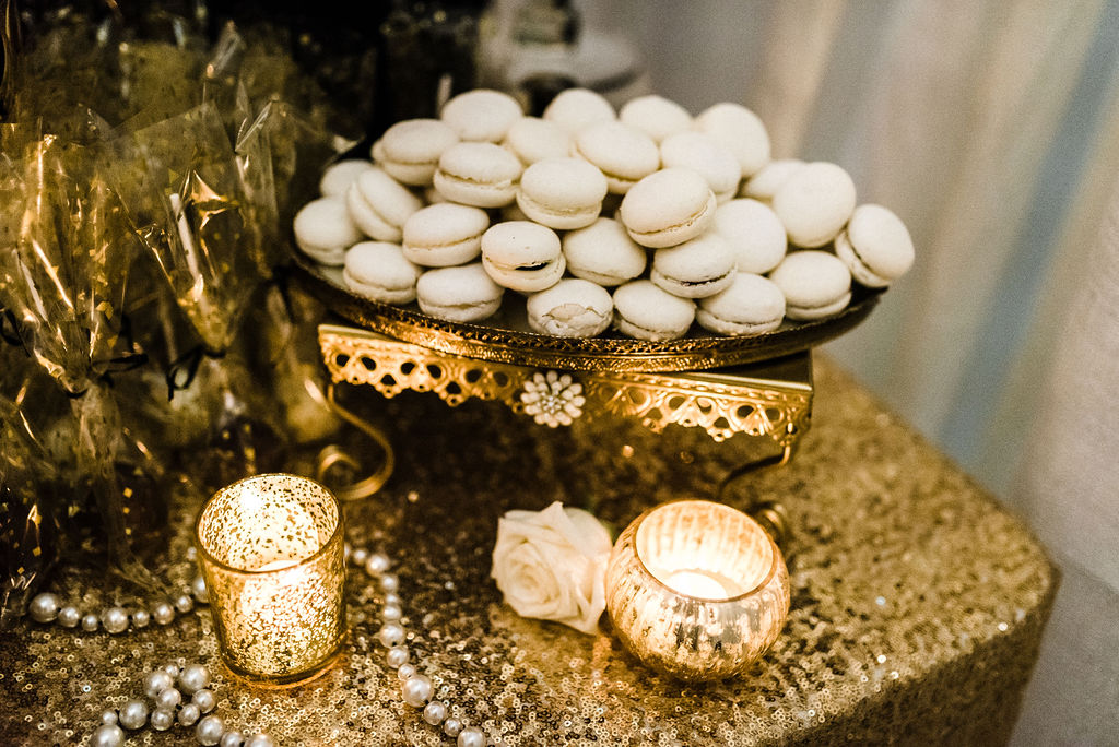 Desserts by Kristin Eddy and Display by Together LLC at Melanie & Tyler Anderson's wedding - Pearl Weddings & Events