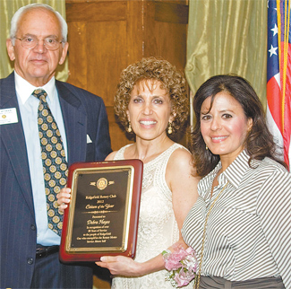 Deb Hayes receives the 2012 Rotary Citizen of the Year Award
