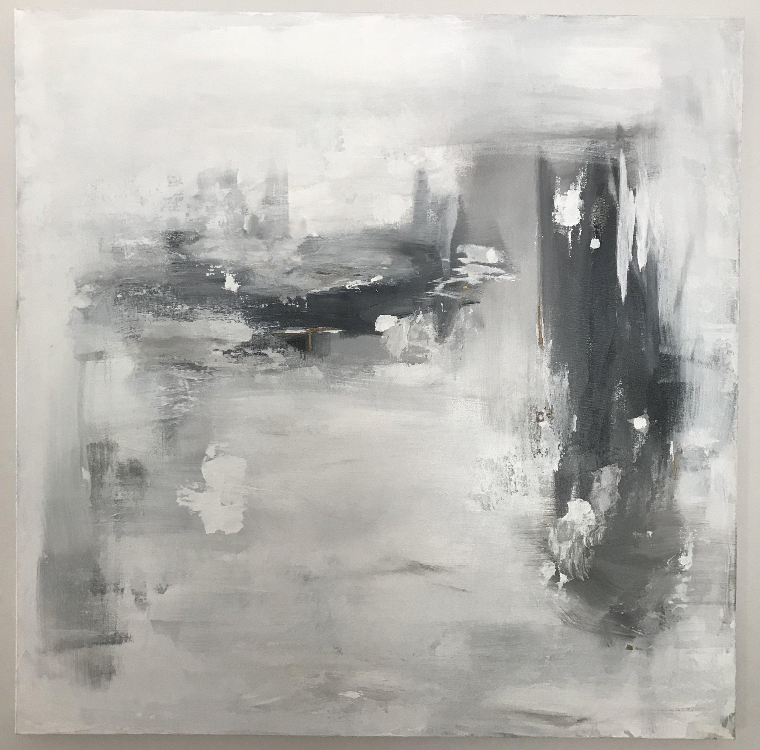 """36"""" x 36"""" Acrylics on canvas"""