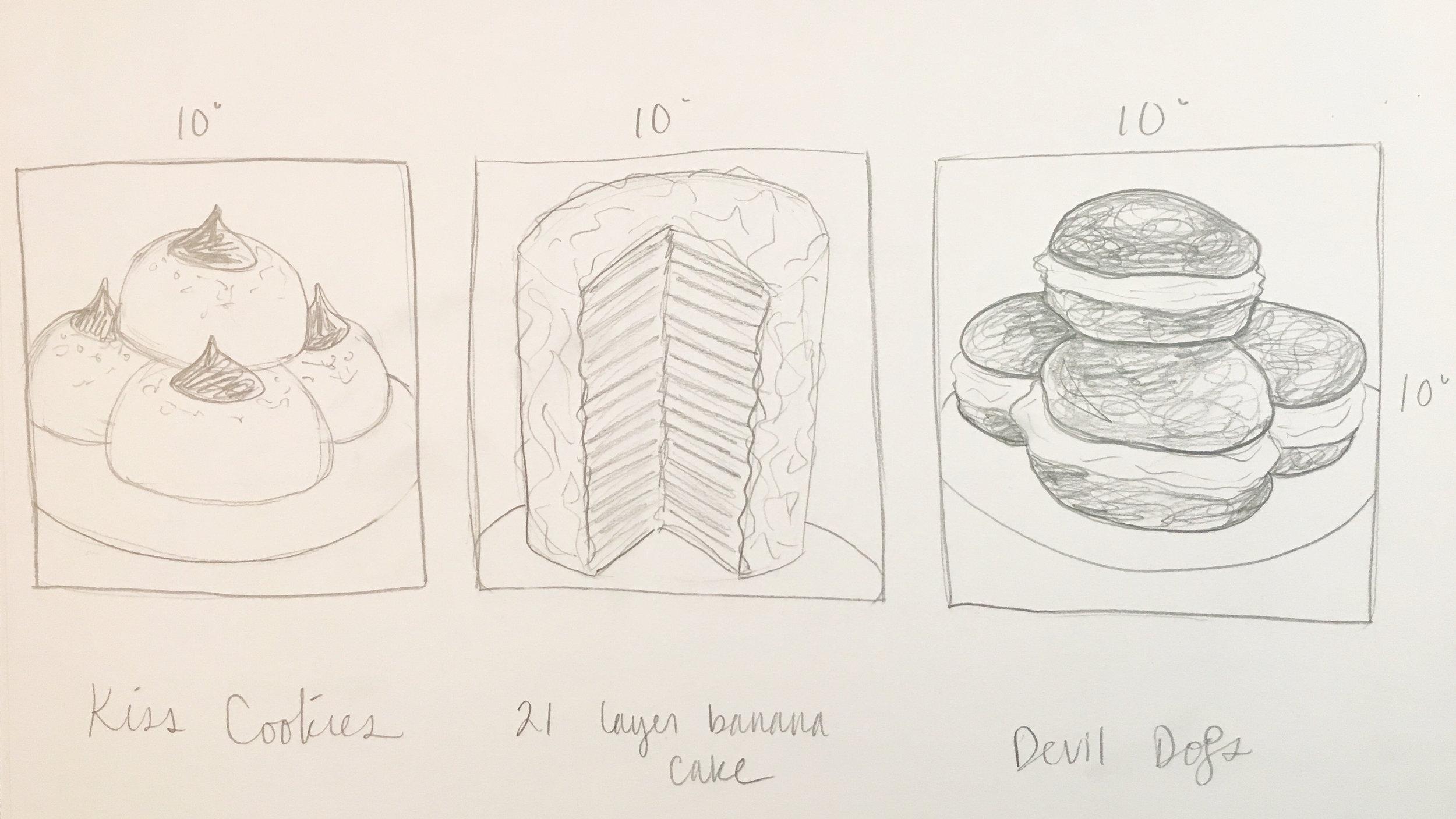 The original sketches!