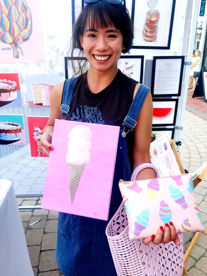 ice cream painting and ice cream clutch.JPG