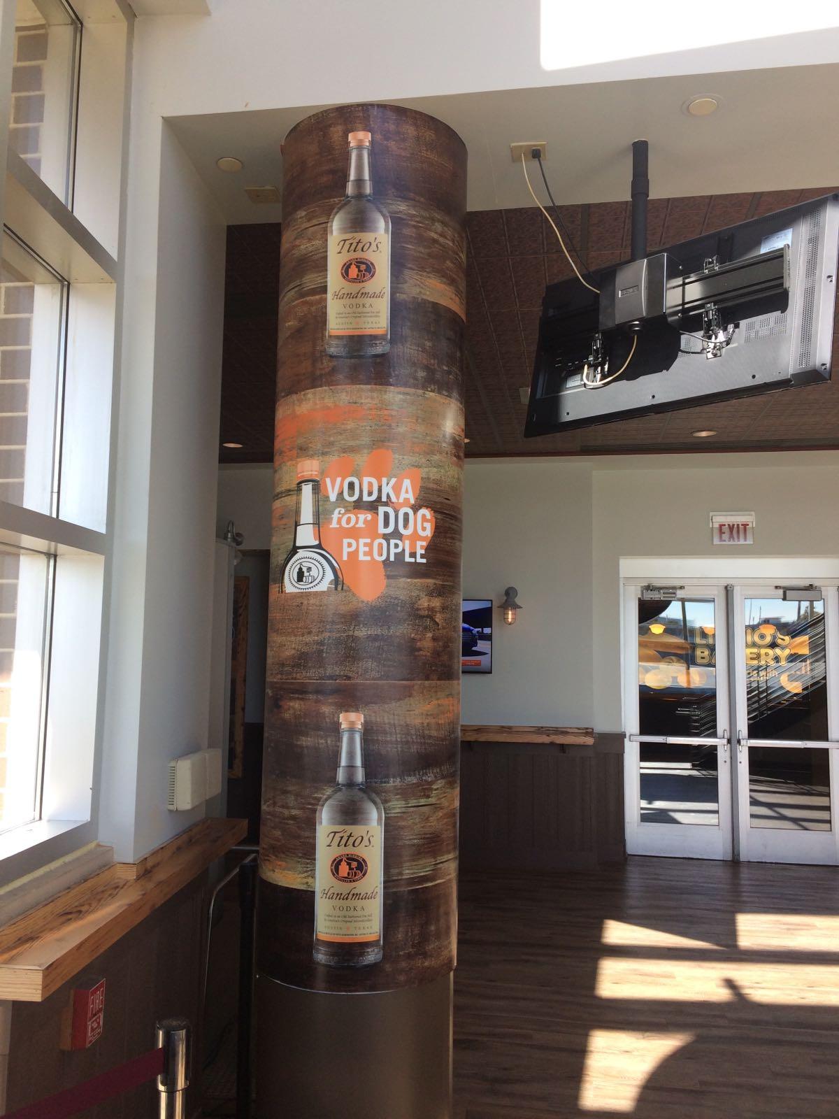 Tito's Vodka column wrap